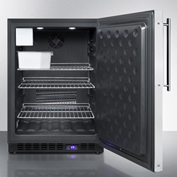Summit SPFF51OSFRIM - Outdoor Freezer W/Ice Maker, Built-In/Freestand, Panel-Ready, Black