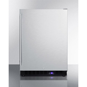 Summit SPFF51OSIM - Outdoor Freezer W/Ice Maker, Built-In/Freestand, S/S, Lock, Digital TSTAT, Black