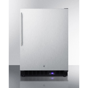 Summit SPFF51OSSSHVIM - Outdoor Freezer W/Ice Maker Digital, TSTAT, Led Light, Black, Lock, S/S Door