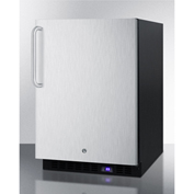 Summit SPFF51OSSSTBIM - Outdoor Freezer W/Ice Maker, Digital TSTAT, Lock, Built-In/Freestand, Black