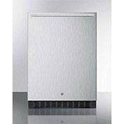 "Summit SPR627OSCSSHH - Outdoor All-Refrigerator For Built-In Use W/Lock, Stainless Steel, 23-5/8""W"