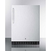 """Summit SPR627OSCSSTB - Outdoor All-Refrigerator For Built-In Use W/Lock, Stainless Steel, 23-5/8""""W"""
