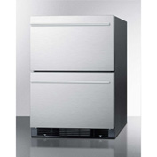 Summit SPRF2D Two Drawer Refrigerator-Freezer 4.8 Cu. Ft. White
