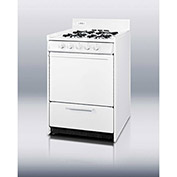 "Summit WNM110P -  Range, Gas, 4 Burners, 2.5 Cu. Ft., Battery Start, White, 24"" x 20"" x 40"""