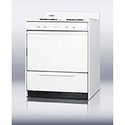 "Summit WNM210P -  Range, Gas, 4 Burners, 3.7 Cu. Ft., Battery Start, White, 24"" x 30"" x 40"""