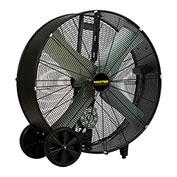 "Master 36"" Belt Drive Portable Barrel Fan MAC-36-BDF, 120V, 10200 CFM"