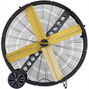 "Master 48"" Belt Drive Portable Barrel Fan MAC-48-BDF, 120V, 17200 CFM"