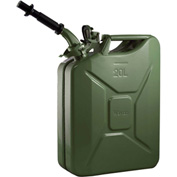 Wavian Jerry Can w/Spout & Spout Adapter, Green, 20 Liter/5 Gallon Capacity - 3008