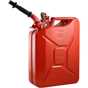 Wavian Jerry Can w/Spout & Spout Adapter, Red, 20 Liter/5 Gallon Capacity - 3009