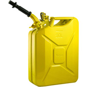 Wavian Jerry Can w/Spout & Spout Adapter, Yellow, 20 Liter/5 Gallon Capacity - 3011