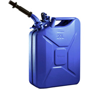 Wavian Jerry Can w/Spout & Spout Adapter, Blue, 20 Liter/5 Gallon Capacity - 3012
