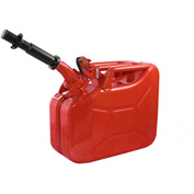 Wavian Jerry Can w/Spout & Spout Adapter, Red, 10 Liter/2.64 Gallon Capacity - 3013