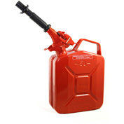 Wavian Jerry Can w/Spout & Spout Adapter, Red, 5 Liter/1.32 Gallon Capacity - 3015