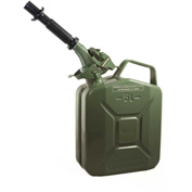 Wavian Jerry Can w/Spout & Spout Adapter, Green, 5 Liter/1.32 Gallon Capacity - 3016