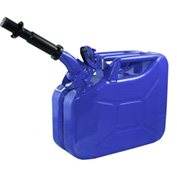 Wavian Jerry Can w/Spout & Spout Adapter, Blue, 10 Liter/2.64 Gallon Capacity - 3023