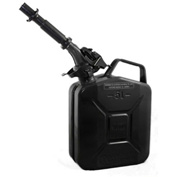 Wavian Jerry Can w/Spout & Spout Adapter, Black, 5 Liter/1.32 Gallon Capacity - 3027