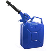 Wavian Jerry Can w/Spout & Spout Adapter, Blue, 5 Liter/1.32 Gallon Capacity - 3028