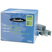 "Swingline® Standard Heavy Duty Staples, 1/2"" Leg Length, 100 Per Strip, 5000/Box"