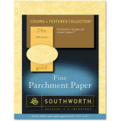"Southworth® Parchment Specialty Paper P994CK336, 8-1/2"" x 11"", Gold, 100/Pack"