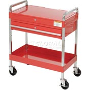 "Sunex Tools 8013A 30"" Red Tool Cart W/ Locking Top & Drawer"