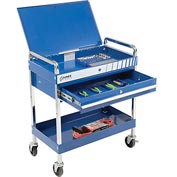 "Sunex Tools 8013ABL 30"" Blue Tool Cart W Locking Top & Drawer"