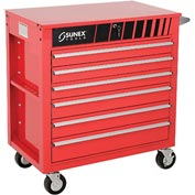 "Sunex Tools 8057 34-1/2"" Heavy Duty Professional Red Tool Cabinet"