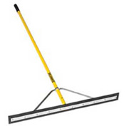 "Midwest Rake® 36"" Straight Blade Squeegee/Spreader, 66"" Yellow Aluminum Handle - 75036"