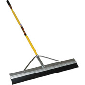 """Structron® 36"""" General Purpose Squeegee, 66"""" Yellow Cushion Grip Fiberglass Handle - 76503"""