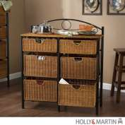Holly & Martin 53149078501 Bernard Iron/Wicker Storage Chest