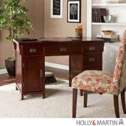 Holly & Martin 55143020605 Landon Computer Desk-Dark Cherry Finish