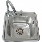 Sunstone ASS17 Single Sink with Cold and Hot Water Faucet