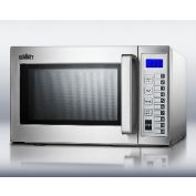 Summit Appliance M1000SS Commercially Approved Microwave - Stainless Steel Exterior & Interior