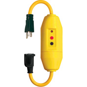 GFCI Cord Set 30438018, In-Line, Auto, 18 Inch, Yellow