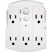 Tower Mfg 30440003 Multi Plug Adapter, Grounded, Auto, White