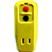 GFCI Adapter 30340001-01, Right Angle, Auto, Yellow