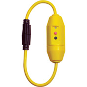 GFCI Cord Set 30396002-08, In-Line, Manual, 2FT, 20 Amp T Slot, Yellow