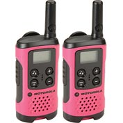 Motorola Talkabout® T107 Two-Way Radios, Neon Pink - 2 Pack