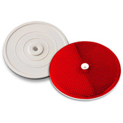 "Tapco® 102232 3-1/4"" Red Centermount Reflector, Plastic Backplate, RT-90R"