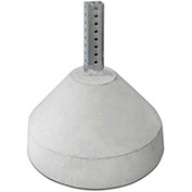 "Tapco® 125 lbs. Round Concrete Base with 18"" Nesting Sleeve (Accepts 2"" Square Post)"