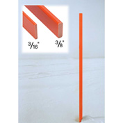 "Tapco® 114227 Rectangular Snow Pole, 60"" x 3/8"" x 1-1/4"", Orange"