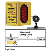 Collision Awareness Basic Forklift Overhead Door Alert, 1 Box, 1 Remote Sensor, 1 Light, 15' Cord