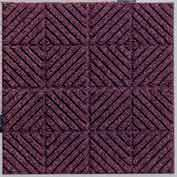 "Waterhog Classic Carpet Tile 2195714000, Diagonal, 18""L X 18""W X 1/4""H, Medium Grey, 12-PK"