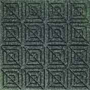 "Waterhog Classic Carpet Tile 2205914000, Geometric, 18""L X 18""W X 1/4""H, Evergreen, 12-PK"