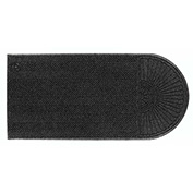 "WaterHog Eco Grand Elite 3/8"" Thick One End Entrance Mat, Black Smoke 3' x 10'"