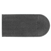 "WaterHog Eco Grand Elite 3/8"" Thick One End Entrance Mat, Gray Ash 4' x 10'5"""