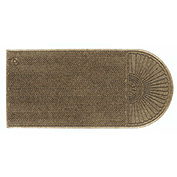 "WaterHog Eco Grand Elite 3/8"" Thick One End Entrance Mat, Khaki 4' x 5'9"""