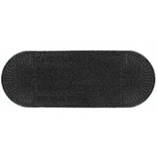 "WaterHog Eco Grand Elite 3/8"" Thick Two Ends Entrance Mat, Black Smoke 3' x 7'1"""