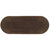 """WaterHog Eco Grand Elite 3/8"""" Thick Two Ends Entrance Mat, Chestnut Brown 4' x 8'"""