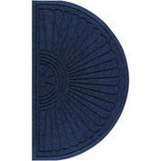 "WaterHog Eco Grand Elite 3/8"" Thick Half Oval Entrance Mat, Indigo 3' x 1'8"""