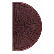 "WaterHog Eco Grand Elite 3/8"" Thick Half Oval Entrance Mat, Maroon 4' x 2'3"""
